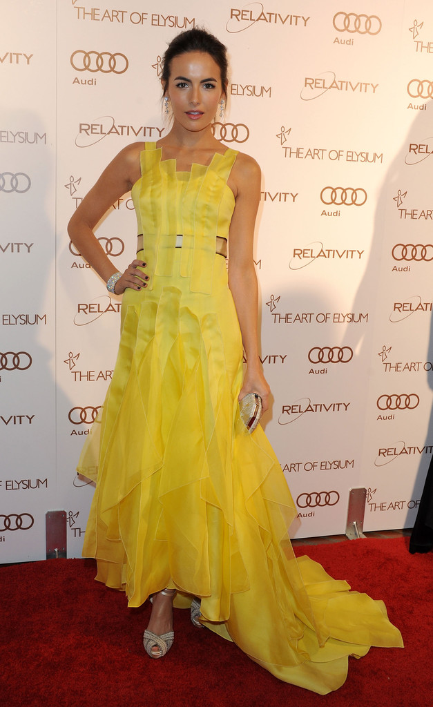 Actress Camilla Belle arrives at The Art Of Elysium's 5th Annual Heaven Gala  on January 14, 2012 in Los Angeles, California.