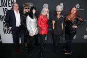 (L-R) Kerry Brown, Suzi Gardner, Demetra Plakas, Donita Sparks, Linda Perry, and Jennifer Finch attend The Art Of Elysium's 13th Annual Celebration - Heaven at Hollywood Palladium on January 04, 2020 in Los Angeles, California.