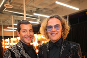 Evangelo Bousis (L) and Peter Dundas attend Michael Muller's HEAVEN, presented by The Art of Elysium, on January 5, 2019 in Los Angeles, California.