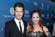 Drew Seeley (L) and Amy Paffrath attend Michael Muller's HEAVEN, presented by The Art of Elysium, on January 5, 2019 in Los Angeles, California.