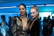 Moran Atias and Larsen Thompson attends Michael Muller's HEAVEN, presented by The Art of Elysium, on January 5, 2019 in Los Angeles, California.