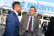 Franklin Sirmans and Joe Namath attend the Art Miami CONTEXT 2017 at Art Miami Pavilion on December 5, 2017 in Miami, Florida.