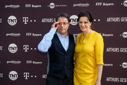 Actor Jan Josef Liefers and actress Martina Gedeck during the series premiere of 'Arthurs Gesetz' at Filmtheater Sendlinger Tor on July 18, 2018 in Munich, Germany.