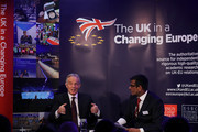 Former British Prime Minister Tony Blair takes part in a Q&A with Anand Menon, Professor of European Politics and Foreign Affairs at King's College London during the 'UK In A Changing Europe Conference' at the QEII Centre on March 29, 2018 in London, England. After holding a referendum, in June 2016, the United Kingdom voted to leave the European Union, and the signing of Article 50 British Prime Minister Theresa May officially triggered that process a year ago.