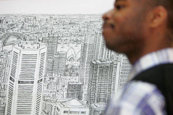 Artist <b>Stephen Wiltshire</b> Holds Press Conference In Sydney - Artist%2BStephen%2BWiltshire%2BHolds%2BPress%2BConference%2BBS28NRCMLCll