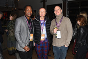 (L-R) Director Roger Ross Williams, producer Fenton Bailey and producer Randy Barbato attend An Artist at the Table: cocktails and dinner program benefit during 2016 Sundance Film Festival at the DeJoria Center on January 21, 2016 in Kamas, Utah.