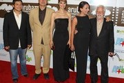 (L-R)  Jonathan Vieira, Giuseppe Cioccarelli, Paola Cortellesi, Lucia Ocone and Claudio Masenza attend the Premiere of Nessuno Mi Puo Giudicare on June 12, 2011 in Paseo Herencia, Aruba.