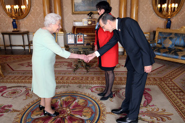 Ashley Chester Private Audiences With The Queen At Buckingham Palace