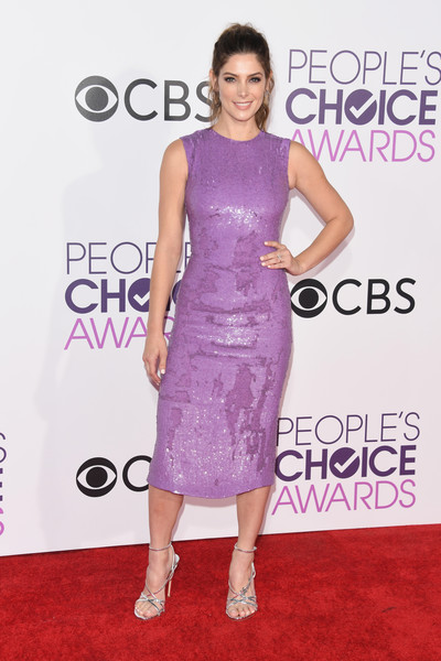 People's Choice Awards 2017 - Arrivals [dress,clothing,cocktail dress,fashion model,shoulder,carpet,red carpet,premiere,fashion,hairstyle,peoples choice awards,microsoft theater,los angeles,california,ashley greene,arrivals]