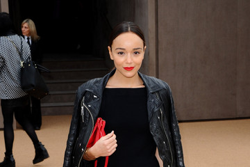 Ashley Madekwe Arrivals at the Burberry Prorsum Show