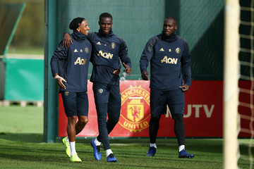 Ashley Young Manchester United Training And Press Conference