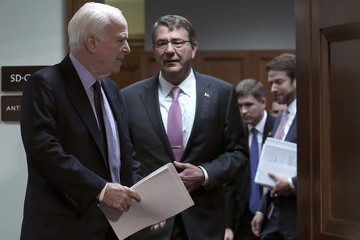 Ashton Carter Defense Secretary Carter and Joint Chiefs Chairman Dempsey Testify to Senate Armed Services Committee