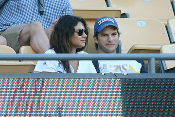 Ashton Kutcher St Louis Cardinals v Los Angeles Dodgers
