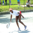 Asia Muhammad LACOSTE and City Parks Foundation Host Tennis Clinic in Central Park