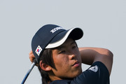Chang-Won Han of South Korea tees off on the 12th hole during the final round of the Asian Amateur Championship at the Mission Hills Golf Club on November 1, 2009 in Shenzhen, Guangdong, China.