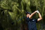 Chang-Won Han of South Korea tees off on the 7th hole during the final round of the Asian Amateur Championship at the Mission Hills Golf Club on November 1, 2009 in Shenzhen, Guangdong, China.