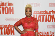 "Anika Noni Rose attends The ""Assassination Nation"" New York Screening at Metrograph on September 17, 2018 in New York City."