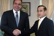 US Assistant Secretary of State for East Asia and Pacific affairs Kurt Campbell shakes hands with South Korea's top nuclear envoy Wi Sung-Lac during their meeting at foreign ministry  on July 20, 2009 in Seoul, South Korea. Campbell will discuss North Korea's defiance over their nuclear program today when he meets with South Korean officials.