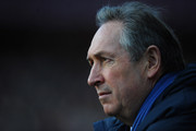 Gerard Houllier of Aston Villa looks on during the Barclays Premier League match between Aston Villa and Blackburn Rovers at Villa Park on February 26, 2011 in Birmingham, England.