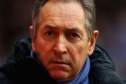 Gerard Houllier, manager of Aston Villa looks on during the Barclays Premier League match between Aston Villa and Fulham at Villa Park on February 5, 2011 in Birmingham, England.