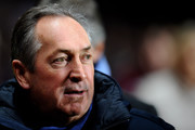 Gerard Houllier the Aston Villa manager looks on during the Barclays Premier League match between Aston Villa and Manchester City at Villa Park on January 22, 2011 in Birmingham, England.