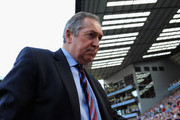 Aston Villa manager Gerard Houllier ahead of the Barclays Premier League match between Aston Villa and Newcastle United at Villa Park on April 10, 2011 Birmingham, England.