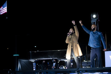 At The Drive-In Kamala Harris Campaigns In Pennsylvania On Eve Of Election Day