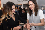 Louise Roe styles a guest at Atelier Swarovski and Louise Roe Celebrate Awards Season At the Grove on February 22, 2017 in Los Angeles, California.