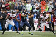 Wide Receiver Jermaine Kearse #15 of the Seattle Seahawks makes a reception against the Atlanta Falcons at CenturyLink Field on October 16, 2016 in Seattle, Washington.