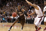 Charlon Kloof #3 of the St. Bonaventure Bonnies handles the ball against Chris Wilson #24 of the Saint Joseph's Hawks during the Semifinals of the 2014 Atlantic 10 Men's Basketball Tournament  at Barclays Center on March 15, 2014 in the Brooklyn borough of New York City.