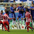 Sergio Aguero Photos - The Chelsea wall can not stop Sergio Aguero of Atletico Madrid from scoring a free kick and his teams second goal during Champions League Group D match between Atletico Madrid and Chelsea at the Vicente Calderon Stadium on November 3, 2009 in Madrid, Spain. - Atletico Madrid v Chelsea - UEFA Champions League