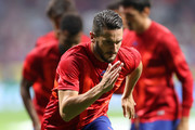Koke of Atletico Madrid warms up during the UEFA Champions League group D match between Atletico Madrid and Juventus at Wanda Metropolitano on September 18, 2019 in Madrid, Spain.