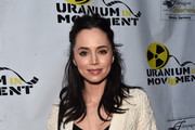 "Actress Eliza Dushku attends the Atomic Age Cinema Fest Premiere of ""The Man Who Saved The World"" at Raleigh Studios on April 27, 2016 in Los Angeles, California."