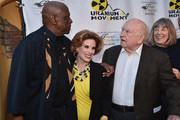 """Actor Louis Gossette Jr., actress Kat Kramer, actor Ed Asner and actress Mimi Kennedy attend the Atomic Age Cinema Fest Premiere of """"The Man Who Saved The World"""" at Raleigh Studios on April 27, 2016 in Los Angeles, California."""