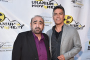 """Actors Ken Davitian and Esai Morales attend the Atomic Age Cinema Fest Premiere of """"The Man Who Saved The World"""" at Raleigh Studios on April 27, 2016 in Los Angeles, California."""