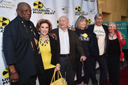 """Actors Louis Gossette Jr., Kat Kramer, Ed Asner, Mimi Kennedy, anti nuclear strategist Harvey Wasserman and radio host Libbe HaLevy attend the Atomic Age Cinema Fest Premiere of """"The Man Who Saved The World"""" at Raleigh Studios on April 27, 2016 in Los Angeles, California."""