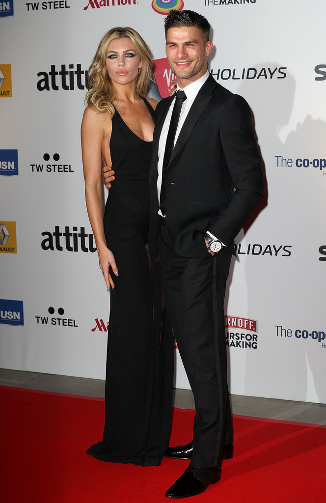 Abbey Clancy and Strictly Come Dancing partner Aljaz Skorjanec attend the Attitude Magazine awards at Royal Courts of Justice, Strand on October 15, 2013 in London, England.