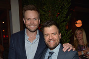 Actors Joel McHale (L) and Kevin Weisman attend the Audi Celebrates Emmys Week 2015 at Cecconi's Restaurant on September 17, 2015 in Los Angeles, California.
