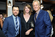 (L-R) Actors Kevin Weisman, Mandy Fabian and Patrick Fabian  attend the Audi Celebrates Emmys Week 2015 at Cecconi's Restaurant on September 17, 2015 in Los Angeles, California.