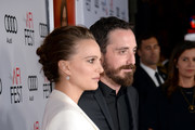 Actress Natalie Portman (L) and director Pablo Larrain attend the premiere of 'Jackie' at AFI Fest 2016, presented by Audi at The Chinese Theatre on November 14, 2016 in Hollywood, California.
