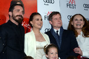 (L-R) Director Pablo Larrain, actor Aiden Weinberg,  actress Natalie Portman, actress Sunnie Pelant, actor Aiden Weinberg, actor Caspar Phillipson and actress Beth Grant attend the premiere of 'Jackie' at AFI Fest 2016, presented by Audi at The Chinese Theatre on November 14, 2016 in Hollywood, California.