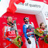 Dominik Paris Photos - Aksel Lund Svindal of Norway takes 2nd place, Dominik Paris of Italy takes 1st place, Kjetil Jansrud of Norway takes 3rd place during the Audi FIS Alpine Ski World Cup Men's Downhill on December 28, 2017 in Bormio, Italy. - Audi FIS Alpine Ski World Cup - Men's Downhill