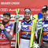 Hannes Reichelt Kjetil Jansrud Photos - Kjetil Jansrud of Norway takes 2nd place, Vincent Kriechmayr of Austria takes 1st place, Hannes Reichelt of Austria takes 3rd place during the Audi FIS Alpine Ski World Cup Men's Super G on December 1, 2017 in Beaver Creek, Colorado. - Audi FIS Alpine Ski World Cup - Men's Super G
