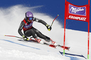 Tessa Worley of France in action during the Audi FIS Alpine Ski World Cup Women's Giant Slalom on January 24, 2017 in Kronplatz, Italy