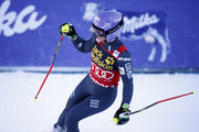 Tessa Worley of France takes 1st place during the Audi FIS Alpine Ski World Cup Women's Giant Slalom on January 07, 2017 in Maribor, Slovenia