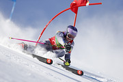 Tessa Worley of France in action during the Audi FIS Alpine Ski World Cup Women's Giant Slalom on October 28, 2017 in Soelden, Austria.