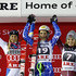 Nina Loeseth Petra Vlhova Photos - (FRANCE OUT) Petra Vlhova of Slovakia takes 1st place, Frida Hansdotter of Sweden takes 2nd place, Nina Loeseth of Norway takes 3rd place during the Audi FIS Alpine Ski World Cup Women's Slalom on December 13, 2015 in Are, Sweden. - Nina Loeseth Petra Vlhova Photos - 3 of 4
