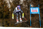 Tessa Worley of France competes during the Audi FIS Alpine Ski World Cup Women's Super-G on January 29, 2017 in Cortina d'Ampezzo, Italy