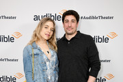 """Jenny Mollen (L) and Jason Biggs attend a special performance of """"Legal Immigrant"""" starring Alan Cumming at Audible's Minetta Lane Theatre on April 12, 2019 in New York City."""