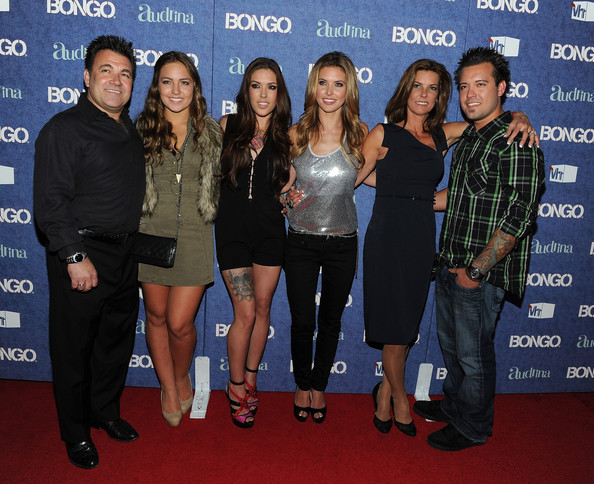 "Audrina Patridge (L-R) Mark, Samantha, Casey, Audrina, Lynn and Marky Patridge arrives at the launch of Audrina Patridge's new VH1 reality show ""Audrina"" hosted by Bongo at The Redbury on April 13, 2011 in Los Angeles, California."